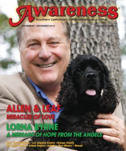 A DOG NAMED LEAF featured on the cover of AWARENESS MAGAZINE