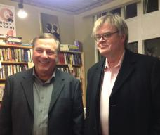 Garrison Keillor and Allen Anderson at A DOG NAMED LEAF Book Launch at Common Good Books